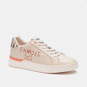 Coach X Jean Michel Basquiat Clip Low Top Size 7 Sneaker - NEW IN BOX